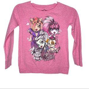 Girls Monster High Graphic Long Sleeve Shirt 7 - 8